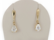 14K Pear Dangle Earrings 2