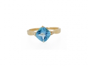 14K Blue Topaz Ring 2