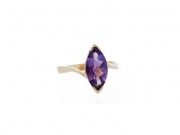 14K Marquise Amethyst Ring 2
