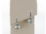 14K Cushion Cut Aquamarine Dangle Earrings 3