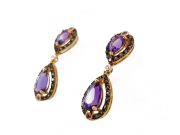 14K Vintage Amethyst Earrings 2
