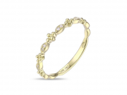 14K Diamond Stackable Ring 2