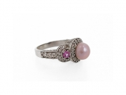 14K Concho Pearl & Pink Sapphire Ring 3