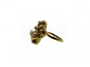 14K Swirl Ring with 7 Concho Pearls 3