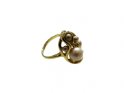 14K Swirl Ring with 7 Concho Pearls 2