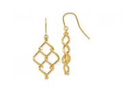 14K Twisted Dangle Earrings 2