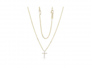 14K Diamond Cross Necklace 2