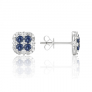 14K Sapphire and Diamond Stud Earrings 2