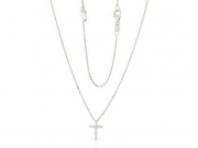 14K Diamond Cross Necklace 3