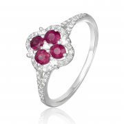 14K Ruby and Diamond Ring 2