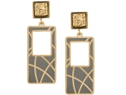 Gold & Rhodium Plated Drusy Earrings 2