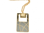 Gold & Rhodium Plated Drusy Necklace 2
