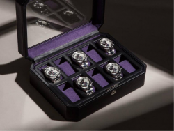 wolf black and purple watch case