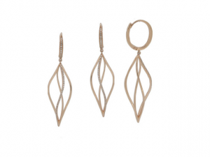 14K Twisted Fashion Earrings