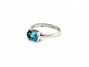 14K Blue Zircon Ring