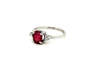 14K Glass Filled Ruby Ring
