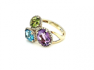 14K Multi-Color Ring