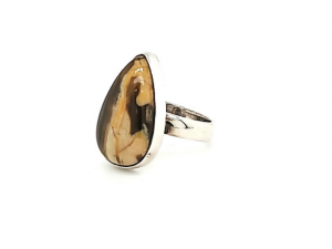 SS Peanut Wood Jasper Ring