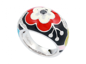 Red Cherry Blossom Ring