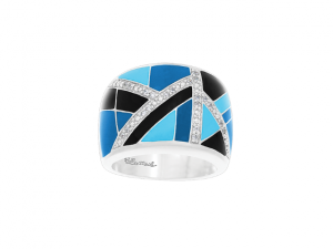 Delano Blue & Black Ring