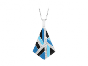 Delano Blue & Black Pendant