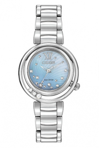 Stainless Sunrise Eco-Drive Watch