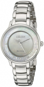 Stainless Circle of Time Eco-Drive Watch