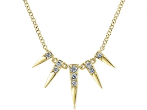 14K Fashion Layered Diamond Necklace