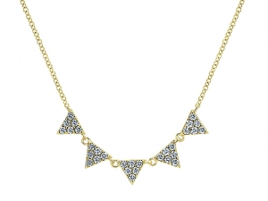 14K Triangle Layer Fashion Necklace