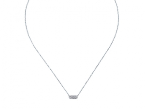 14K Small Diamond Bar Necklace