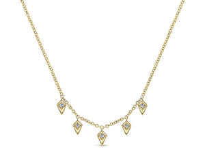 14K Fashion Dangle Necklace