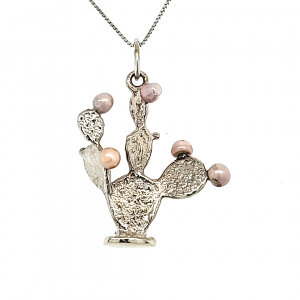 Cactus Pendant With 5 Concho Pearls