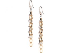 Cascade Three Strand Earrings