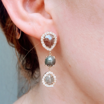 legend jewelers designs gemstone earrings
