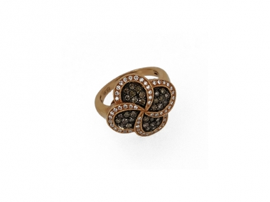 14K Swirl and Flower Design Ring 1