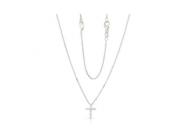 14K Diamond Cross Necklace 1