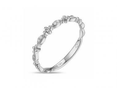 14K Diamond Stackable Ring 1