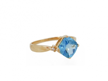 14K Blue Topaz Ring 1