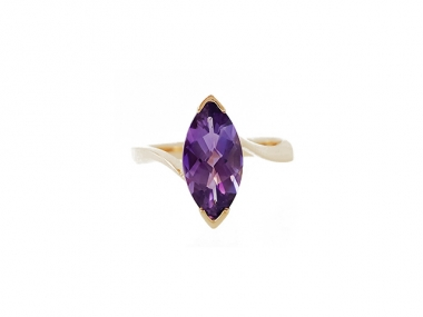 14K Marquise Amethyst Ring 1