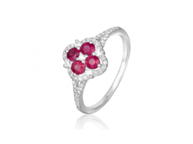 14K Ruby and Diamond Ring 1