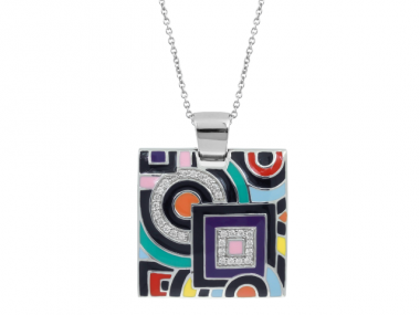 Geometrica Multi-Color Pendant 1