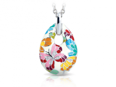 Ivory Butterfly Kisses Pendant 1