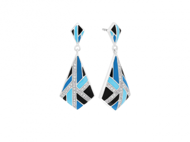 Delano Blue & Black Earrings 1