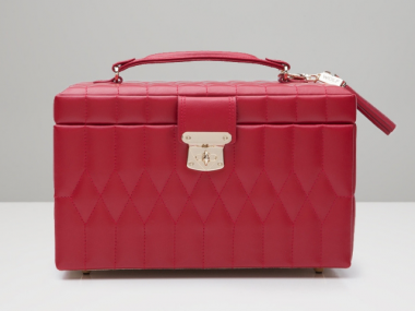 Caroline Medium Jewelry Case in Red 1