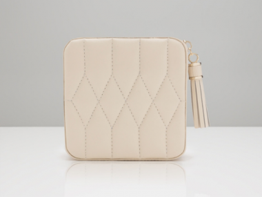 Ivory Caroline Zip Travel Case 1
