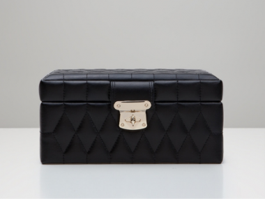 Caroline Small Jewelry Case in Black 1