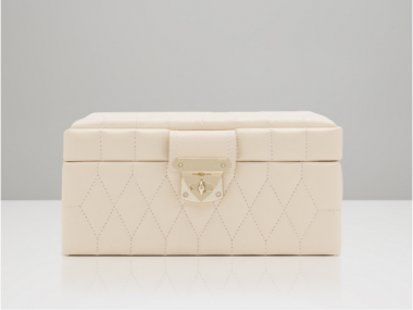 Caroline Small Jewelry Case in Ivory 1