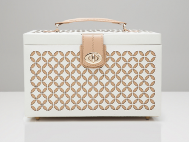 Medium Chloe Jewelry Box in White 1