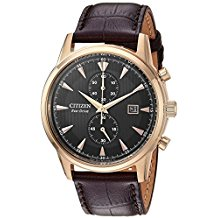 Corso Eco-Drive Rose Tone Strapped Watch 1
