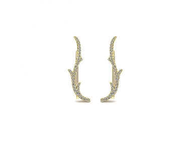 14K Comets Earcuffs Earrings 1